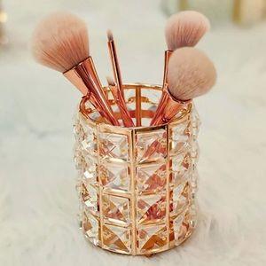 Makeup organizer brush holder